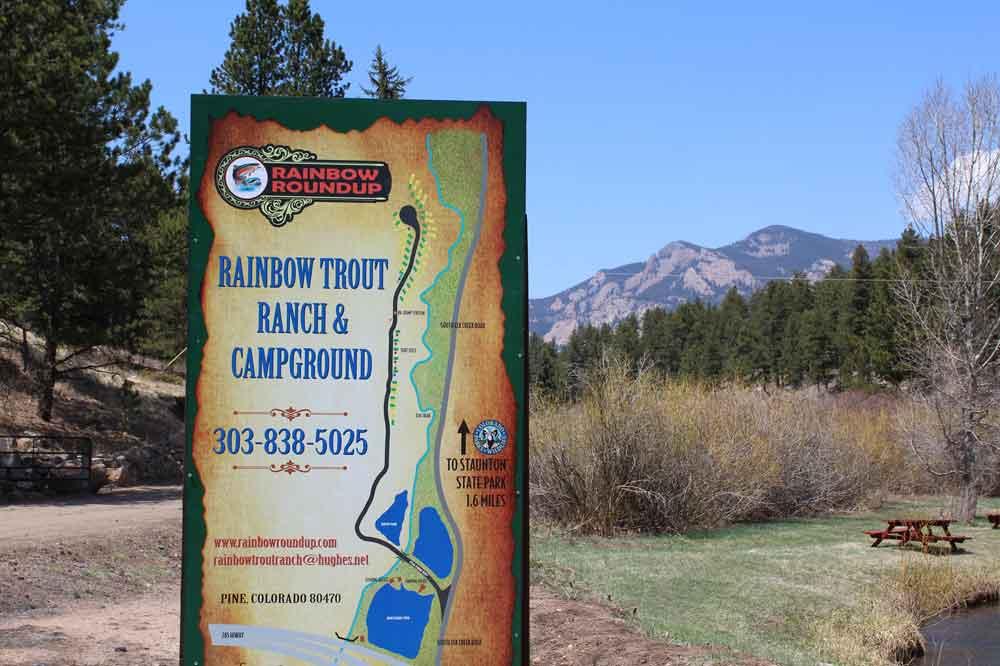 Rainbow Roundup Sign